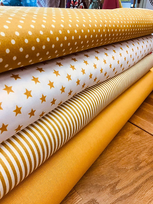 Fat Quarter Pack - Mustard - Fabric Options