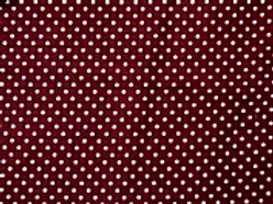 100% cotton polka dot - wine/cream