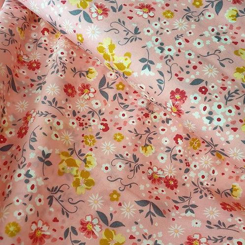 Pink Cotton Floral Print