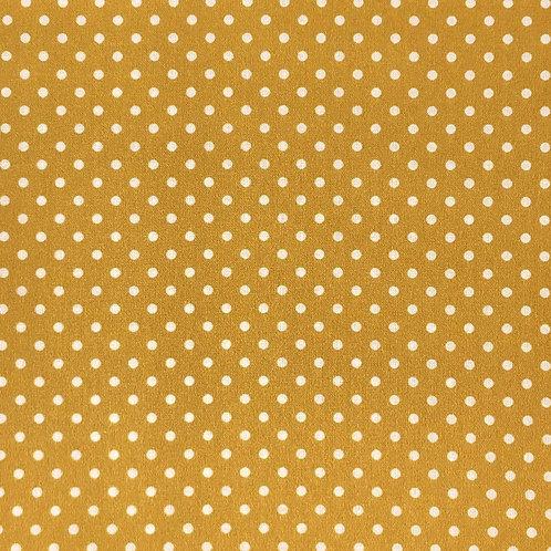 100% Cotton - Sweet Pea Dot Mustard Gold