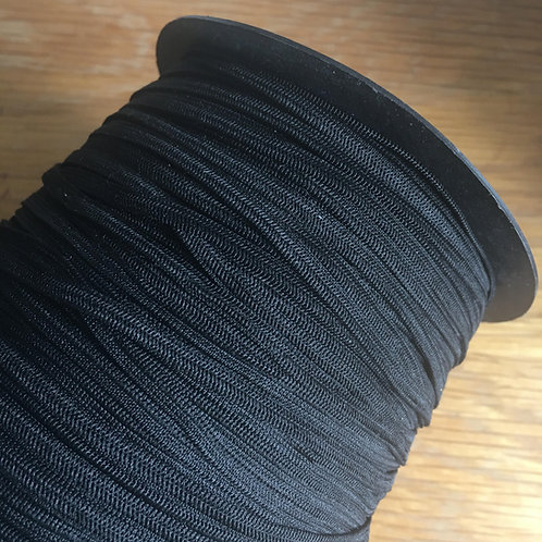 4mm Black Elastic