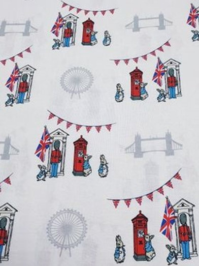 White beefeater - Peter Rabbit Cotton