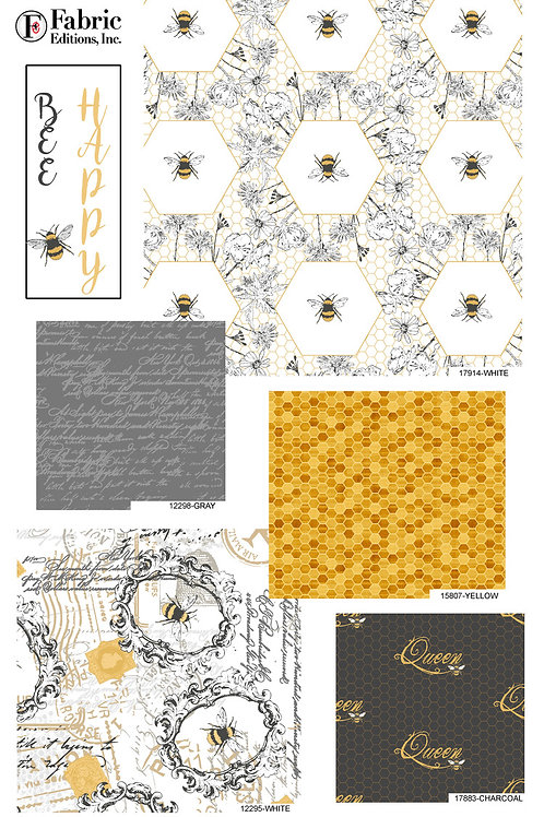 Bee Happy - Fat Quarter Pack - 5 FQ's