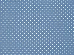 100% cotton polka dot - sky/white