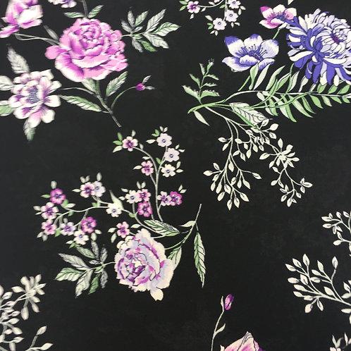 Black Floral Chiffon - Dressmaker Deal
