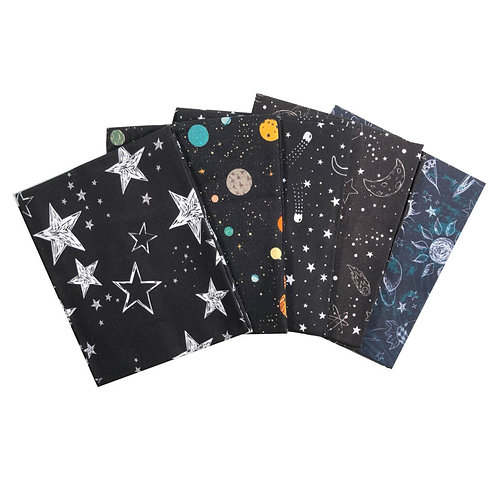 Outer Space - Fat Quarter Pack - 5 FQ's