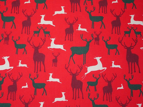 Christmas Reindeer - Polycotton