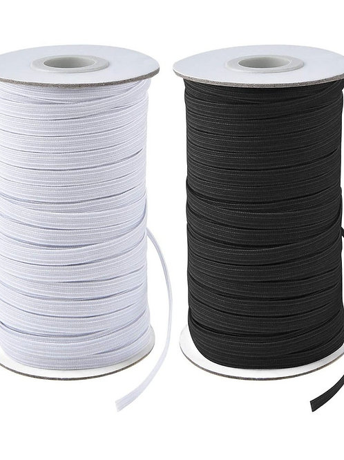 7 mm  Elastic (Black or White)
