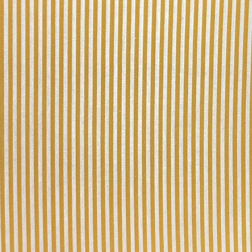 100% Cotton - Candy Stripe Mustard