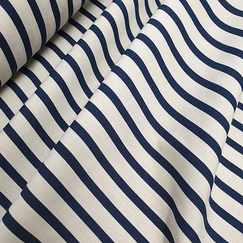 Cotton stripe - Ivory/Navy