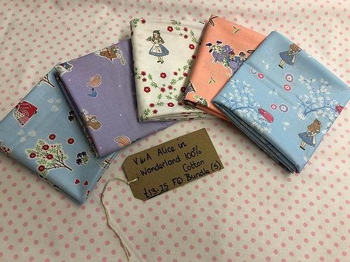 Fat Quarter Pack - Alice in Wonderland - 100% Cotton