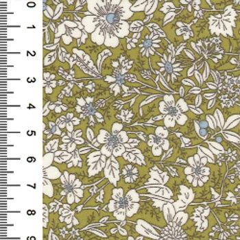 Green Small Flower Print - 100% Cotton