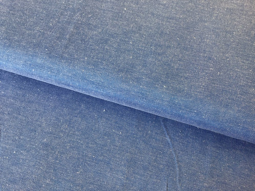 Blue Chambray Poly Cotton