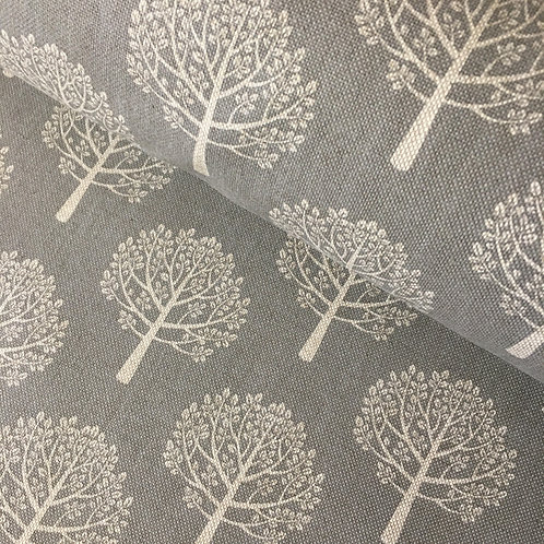 Cotton Linen Craft Canvas - Trees - Grey- Back in stock soon