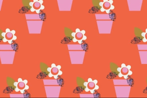 Dashwood - Flowers in pots - 100% cotton