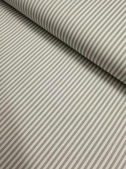 100% cotton stripes - grey/white