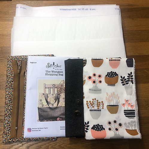 Westgate Shopping Bag - Kit  & Pattern by Karen Taylor of Stitches