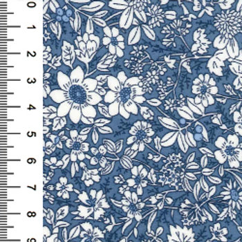 Delph Small Flower Print - 100% Cotton