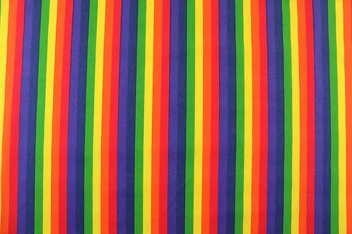 Rainbow Polycotton Print
