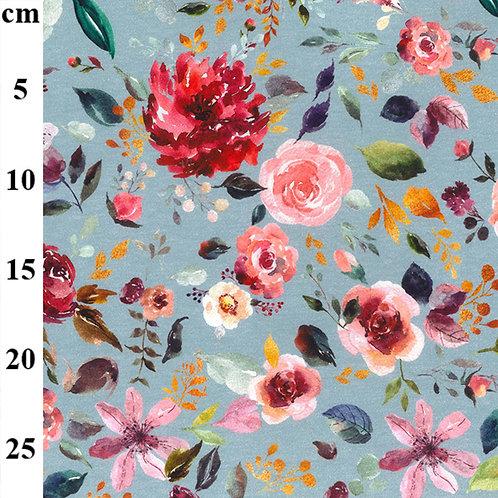 Floral Organic Print Jersey