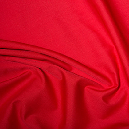 Poly Cotton Christmas Plain - Red