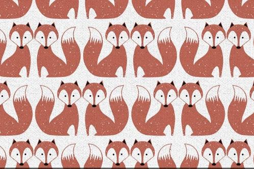 Cotton/Linen mix - Foxes chalk hill