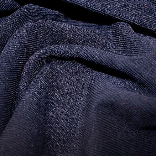 Polyester Plain Soft Cord - Navy