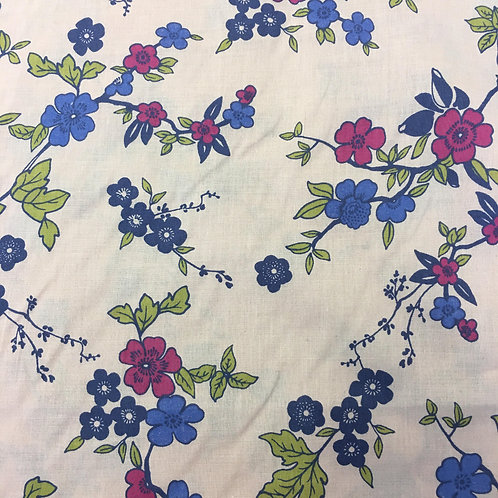 Pretty Floral Poly/Cotton Print