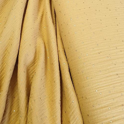 Yellow Double Gauze - 100% cotton