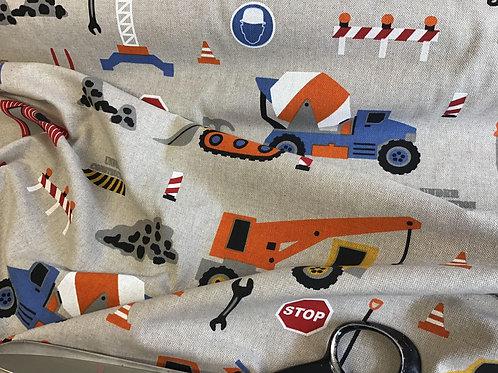 Trucks - Cotton Linen Craft Canvas