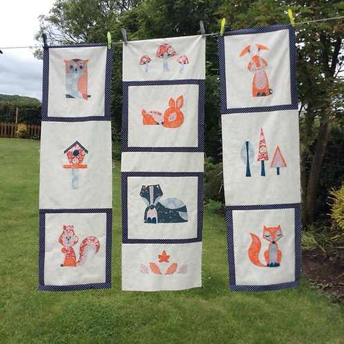 9TH OCTOBER THE WOODLAND APPLIQUE QUILT WITH LOUISE FROM SEW HAPPY WORKSHO