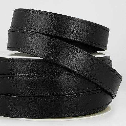 Webbing: Faux Leather: 25mm - Black