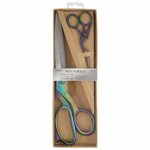 Gift Set: Scissors 25cm and 11.5cm: Rainbow