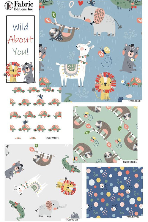 Wild About You - Fat Quarter Pack - 5 FQ's