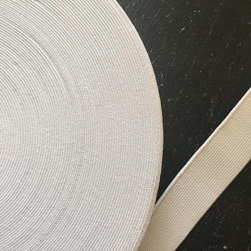 1 inch  Elastic - White