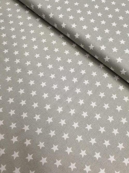 100% cotton stars - grey/white