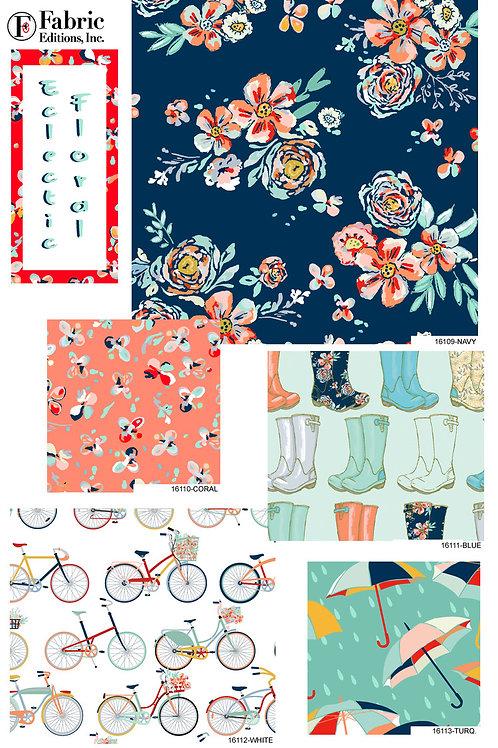 Eclectic Floral - Fat Quarter Pack - 5 FQ's