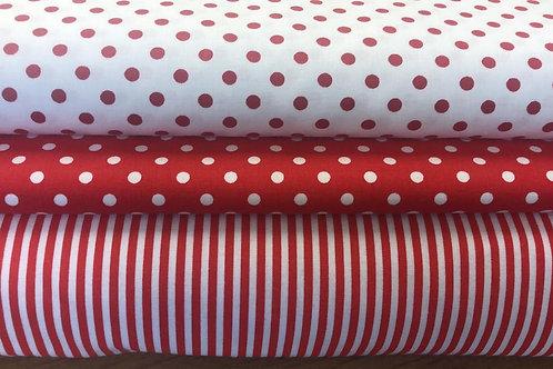 100% Cotton - Spots & Stripes - Various colourways