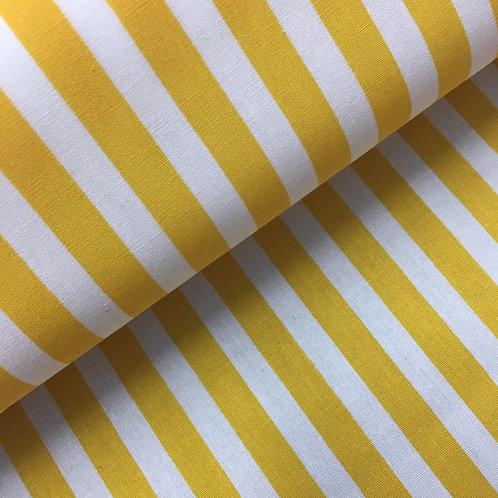 Cotton - Yellow and White stripe