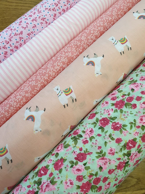 Selection of Pretty pink Poly Cottons