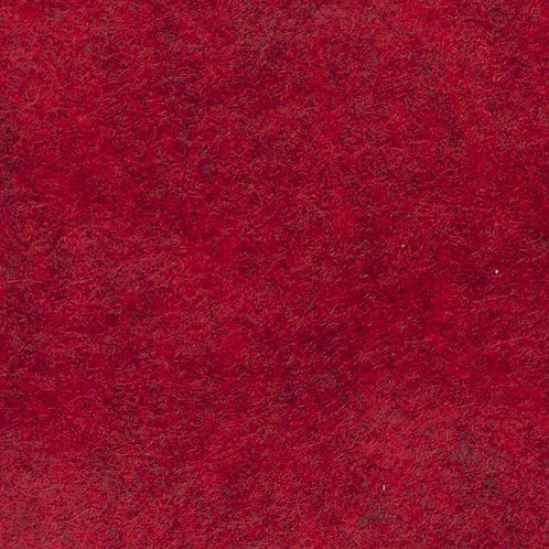 Wool mix felt - Red Marl (92cm) wide