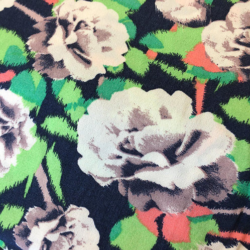 Viscose - Roses on colourful background
