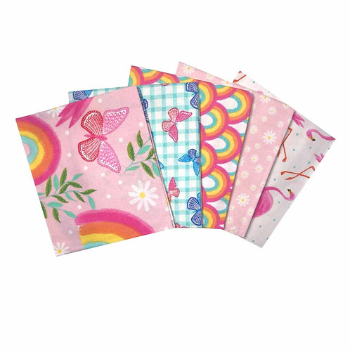 Flamingo Garden - Fat Quarter Pack - 5 FQ's