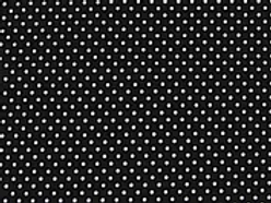 100% cotton polka dot - black/white