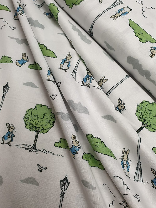 100% Cotton - Peter Rabbit in the Park