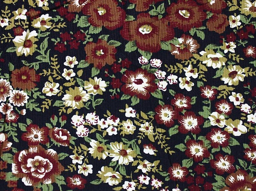 Cotton Floral Cord - Brown