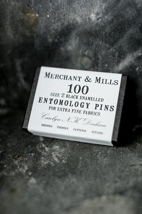 100 Black Entomology Pins