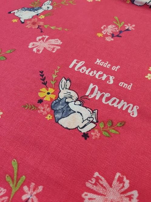 Flowers & Dreams - Peter Rabbit - 100% Cotton