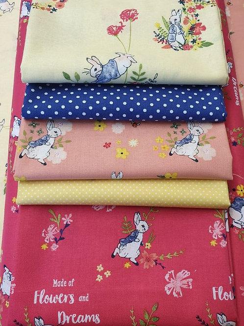 Peter Rabbit Fat Quarter Pack - 100% Cotton