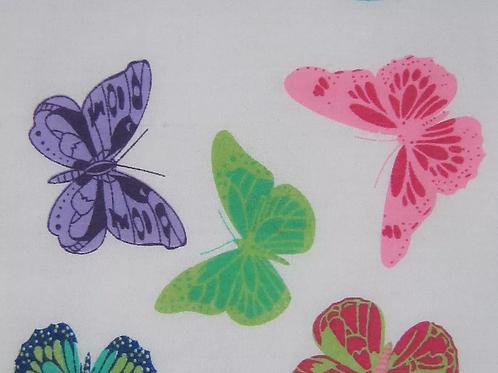 Butterflies - Purple Polycotton Print